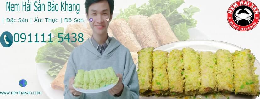 nem hải sản thương hiệu Bảo Khang