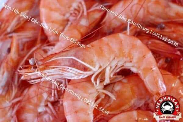 tôm nguyên liệu của nem hải sản