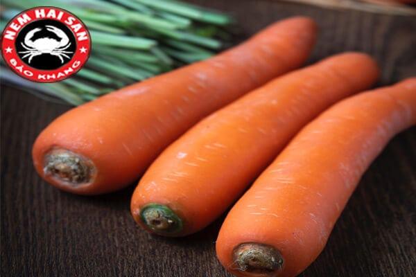 cà rốt nguyên liệu làm nem hải sản